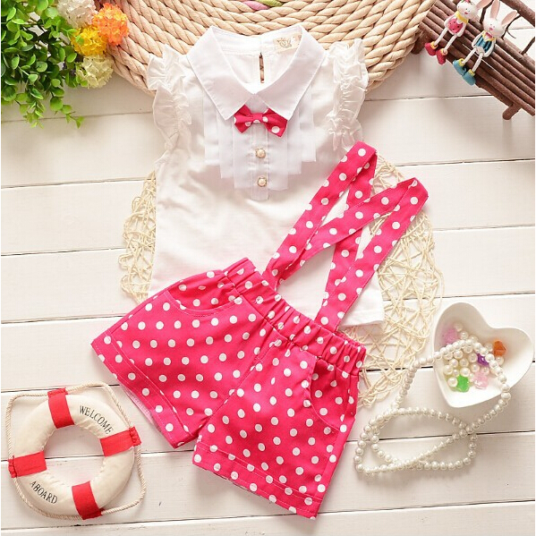 New 2015 summer girls clothing sets 3colors chiffon plaid sleeveless t shirt pant suits set baby