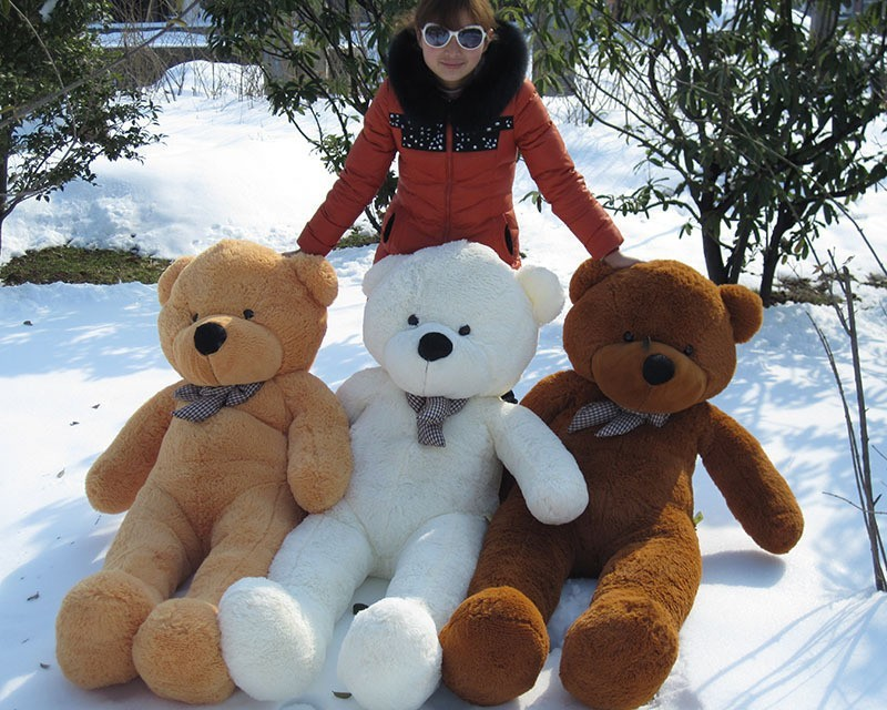 200cm Big size Teddy Bear Skin coat toys ( un-stuffed) dolls for baby birthday gifts (3 colors), Free Shipping!(China (Mainland))