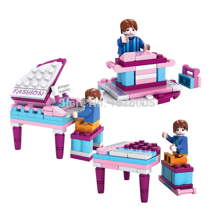 The new Friends Musician Stage 1 Set Series Brand New Free Building Block Toys Assemble toys gift for kids Compatible with Lego(China (Mainland))