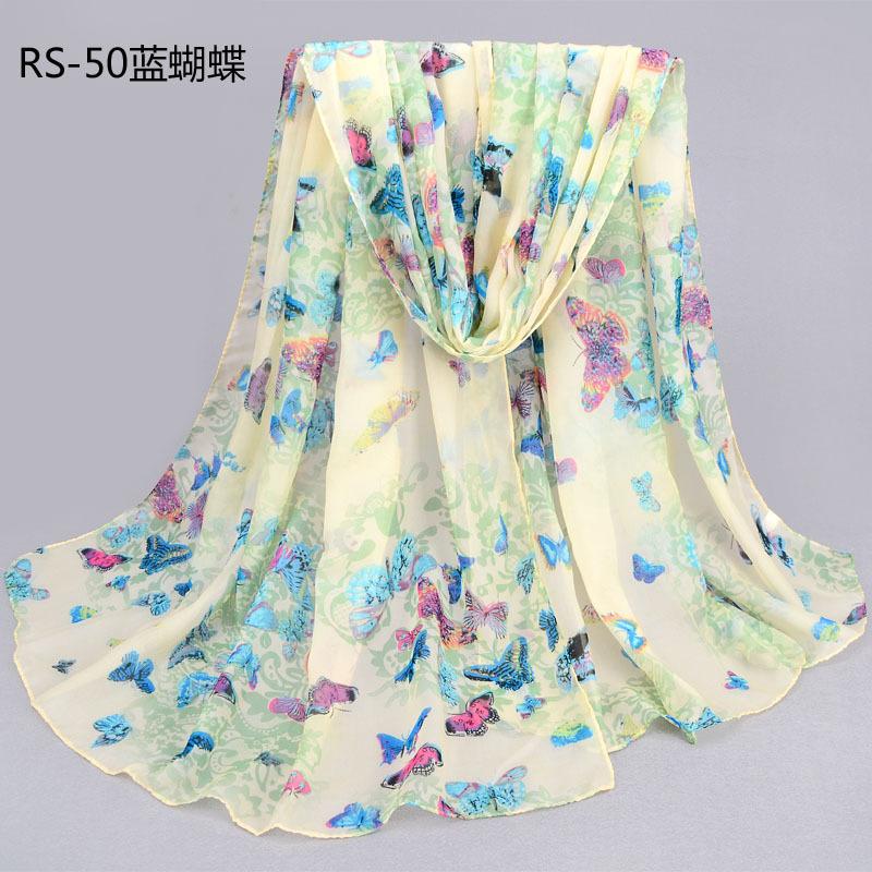 175*75cm 2015 New Female Silk Cashmere Printed Chiffon Scarf Large Sunshade Shawl Ladies Butterfly Warm Wraps Scarves(China (Mainland))