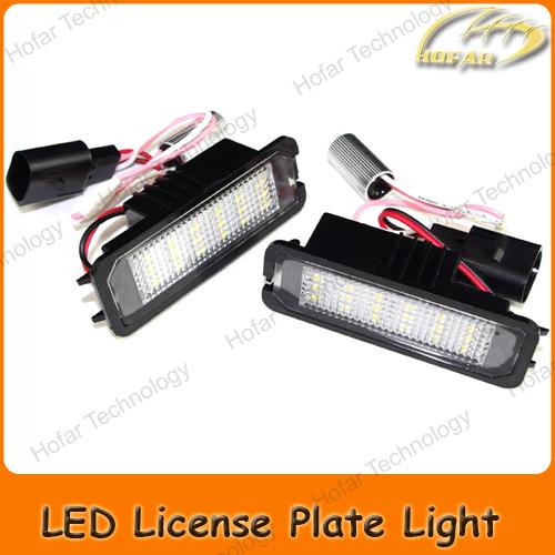 LED License Plate Lights VW Golf Mk4 5 6 7 / Eos Lupo/ Passat B6 B7 CC Phaeton Polo /New Beetle Amarok Scirocco - VANLOVO Car Kit store
