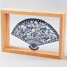 Handmade home decor Paper laser cut picture wood photo table frames for picture Shadow Boxes Other theme(China (Mainland))