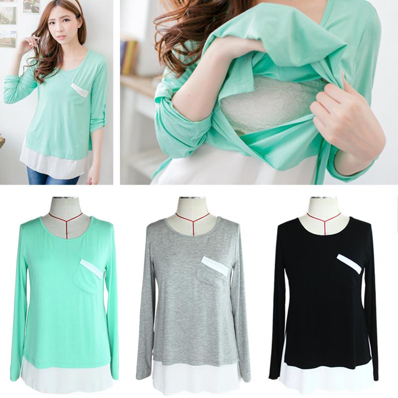 Nursing Tops Maternity shirt Breastfeeding Clothes for ...