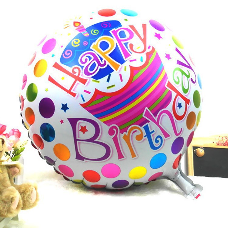"""1pc 18"""" Round Happy Birthday Printed Foil Balloons Party Decoration Helium Balloon Child's Holiday Gifts(China (Mainland))"""