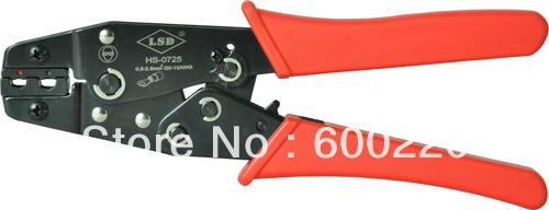 Mini CrimpingToo HS-0725 for crimping pre insulated terminals connectors 0.0.5-2.5mm2 crimping tool