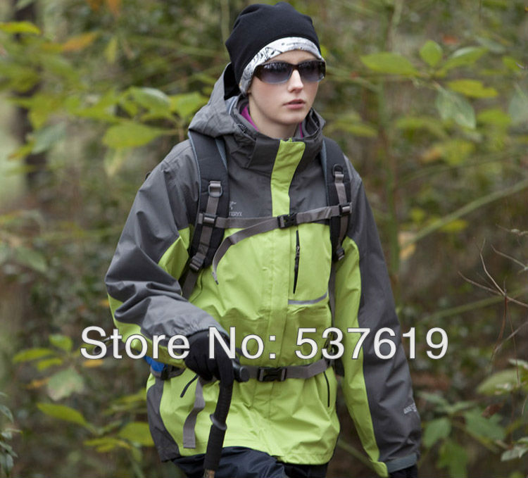 Free shopping 2013 women's water proof tech jacket high quality outdoor sportswear hiking clothing camping jacket 5color(China (Mainland))