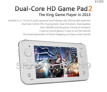 Free shipping JXD 8GB Cortex A9 Dual Core 1.5G 1GB DDR3S7300  7INCH 1080P Android4.1.1 Wifi Game Console Player