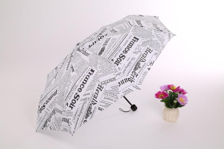 Free Shipping Sun Rain Parasols Umbrella Novelty Items Pencil White Pink Newspaper Umbrellas For Women #Z0225(China (Mainland))