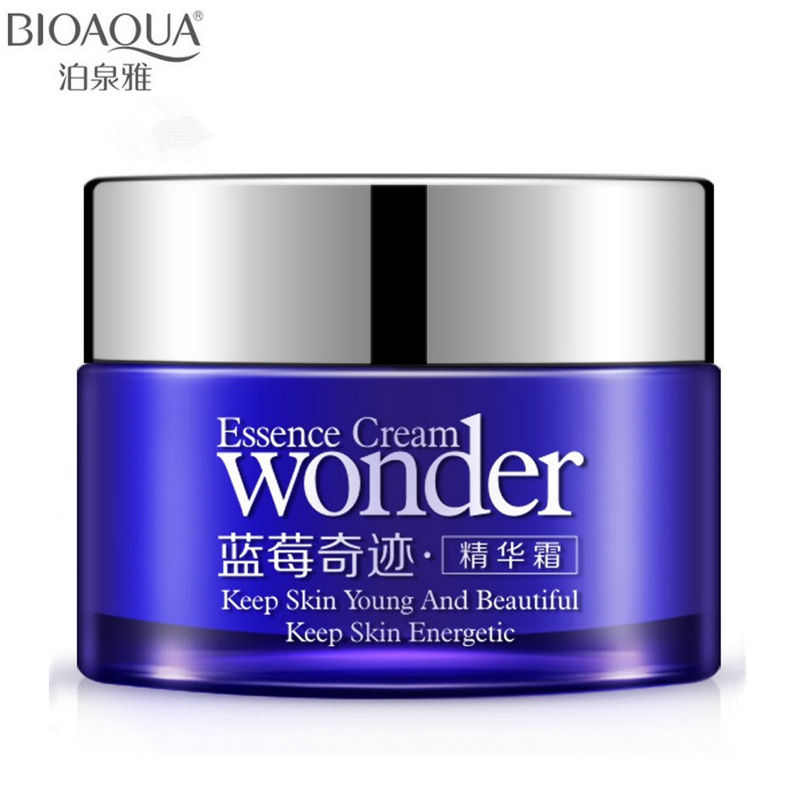 2016 Brand BIOAQUA Blueberry Skin Care Whitening Face Cream Deep Moisturizing Face Cream Hydrating Anti-Aging Anti Wrinkle Cream(China (Mainland))