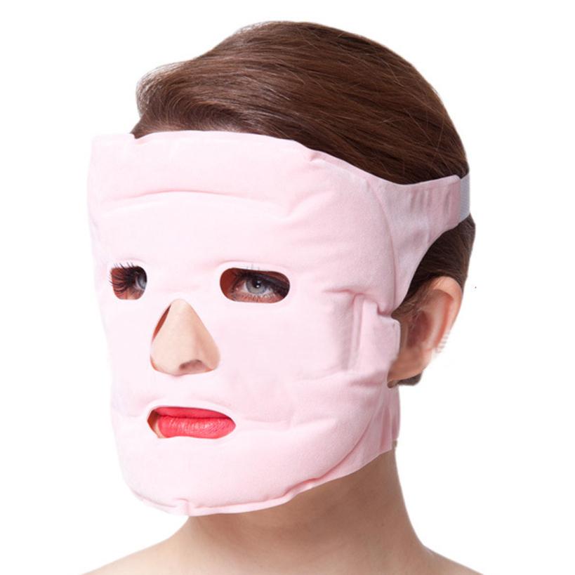 Amazing Hotsale Women Girl Tourmaline Gel Slim Face Facial Beauty Massage Mask Facemask Skin Health Care Free Shipping(China (Mainland))