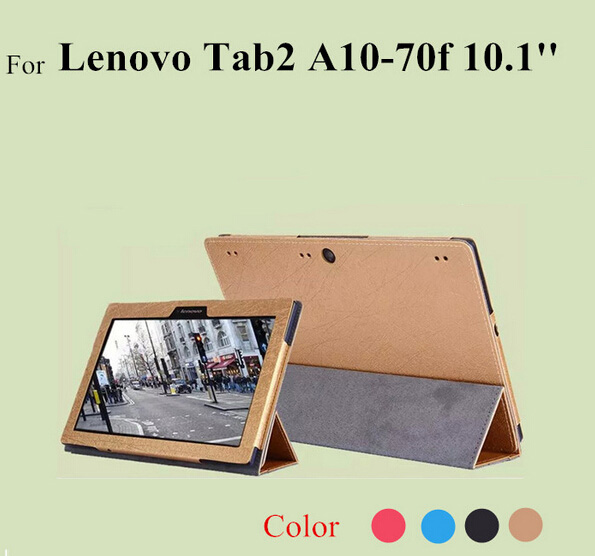 Cover Case for Lenovo tab 2 A10-70L for lenovo tab 2 a10-70F 10.1inch Tablet accessories PU Leather shield cover free shipping(China (Mainland))
