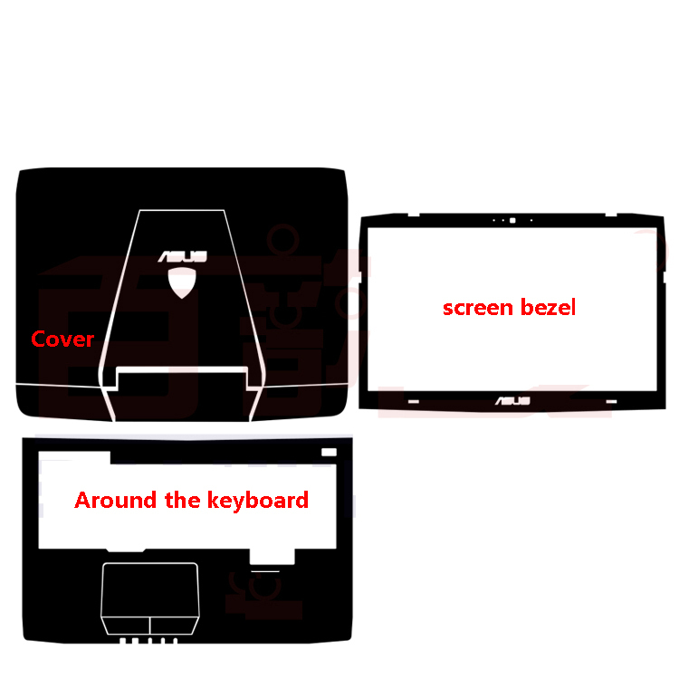 Without cropping Waterproof scratch Special Laptop black Carbon Skin Cover For ASUS G751 G751JY G751JT 17.3-inch