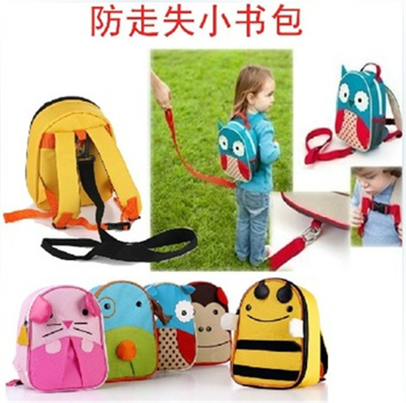 Baby Anti-lost Toddler Backpack Cute Cartoon Baby Printing Bag Animal Child Student School Bag Outdoor Insulation Bread(China (Mainland))