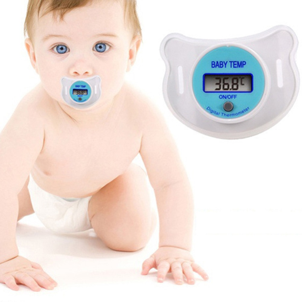 New Practical Baby Infants LCD Digital Mouth Nipple Pacifier Thermometer Temperature Celsius Hot WY-01(China (Mainland))