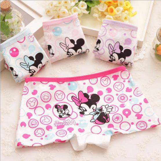 New children's cartoon Mickey printed cotton underwear baby girls underwear boxer briefs kids panties wholesale GU030
