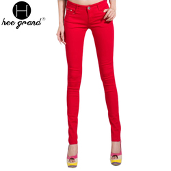 Women's Pencil Jeans 2013 Summer Candy Colour Female Silm Jeans Free shipping WKP004