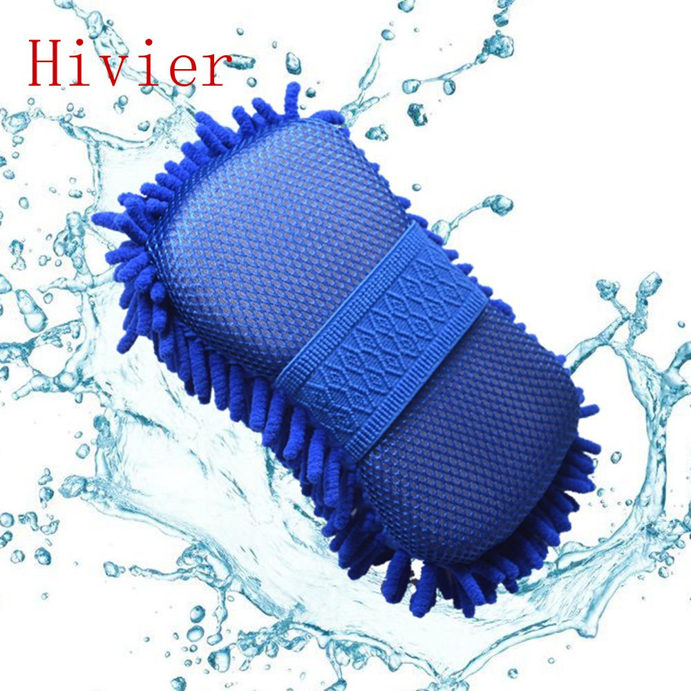 Wholesale New Real Microfiber Car Washer Cleaning Care Detailing Brushes Washing Towel Auto Gloves Styling Supplies Accessories(China (Mainland))