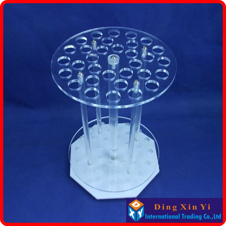 32 holes Organic glass graduated pipette rack 32 holes circular pipette stand pipette holder circular pipet rack