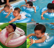 High Quality Two Color Fun Inflatable Underarm Swimming Float Baby Swim Ring Swiming Trainer S Size S Free Shipping(China (Mainland))