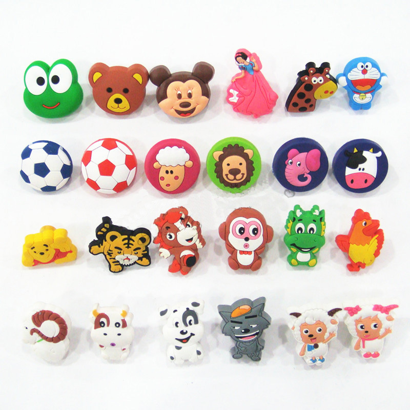 Best Quality European Cute non-toxic eco Soft Rubber PVC Cartoon Cabinet Wardrobe Drawer Pull Handle knob for Child Room(China (Mainland))