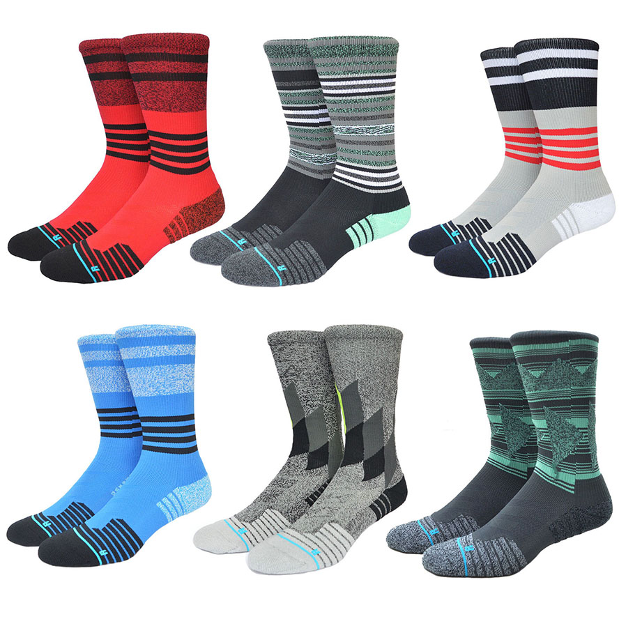Basketball Stanced Socks Quick Drying Nylon Compression Socks Rush Running Soccer Men Sox Sport 584w(China (Mainland))
