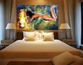 100 Hand Painted Body Art Color Palette Picture Sexy Nude Girl Canvas Oil Paintings for Living