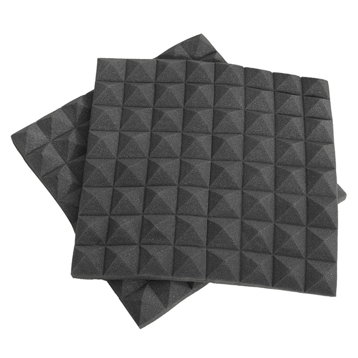 Hot Sale 2Pcs Soundproofing Foams Acoustic Wedge Studio Foam Sound Absorption Wall Panels 50cm*50cm*5cm Polyurethane foam(China (Mainland))