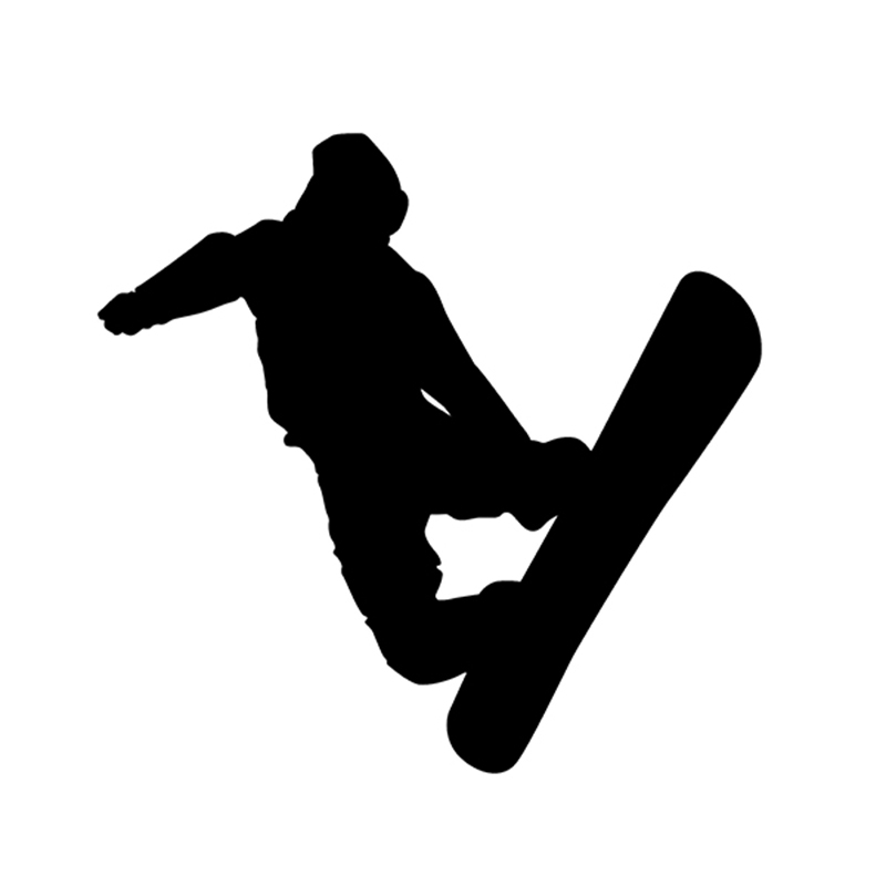 Great Figure Skating Snowboard Snow Board Sports Reflective Vinyl Decal Sticker For Car Truck Window Bumper Stickers(China (Mainland))