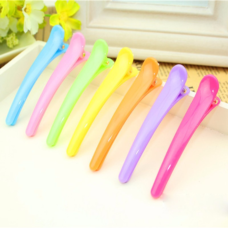 5pcs Hair Clip Plastic Professional Hairdressing Cutting Salon Styling Tools Section Hair Clips Colorful Clamps(China (Mainland))