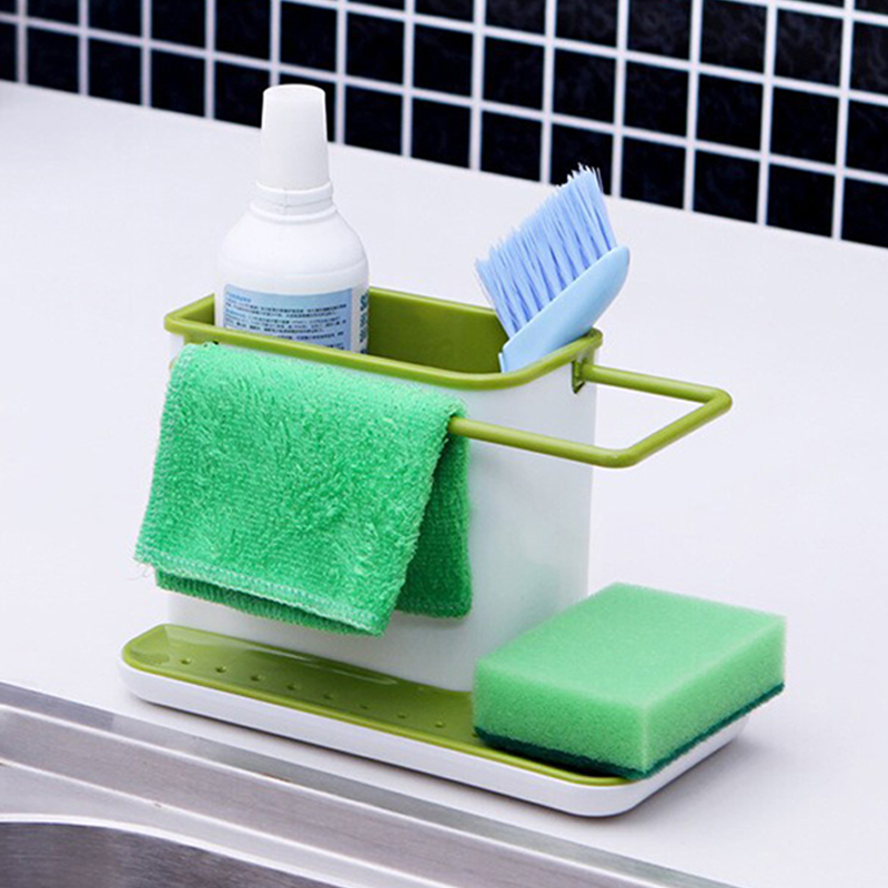 New Arrival Sink Draining Brush Sponge Cleaning Cloth Towel Rack Washing Holder Kitchen Tidy Stand(China (Mainland))