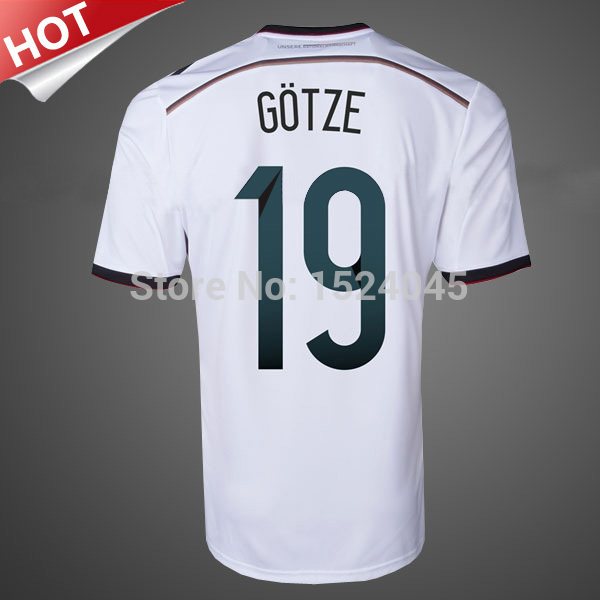 Top quality 4 stars Germany Jersey 2014 OZIL Muller Klose GOTZE Germany World Cup 2014 Soccer Jersey Germany Football Shirt(China (Mainland))