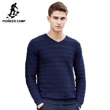 Pioneer Camp 2017 новое поступление мужской свитер V-образным Вырезом трикотажный мужской свитер случайные свитер мяхкий материал 655106(China (Mainland))