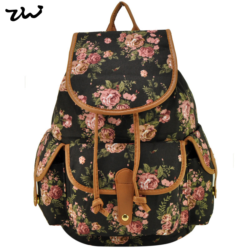 ZIWI Brand New Arrival Students Backpack Vintage Buckle