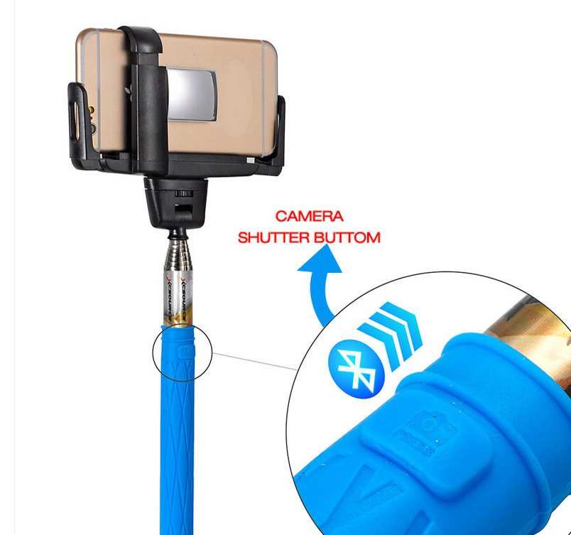 for ios android smartphone extendable handheld wireless bluetooth selfie stick monopod tripod. Black Bedroom Furniture Sets. Home Design Ideas