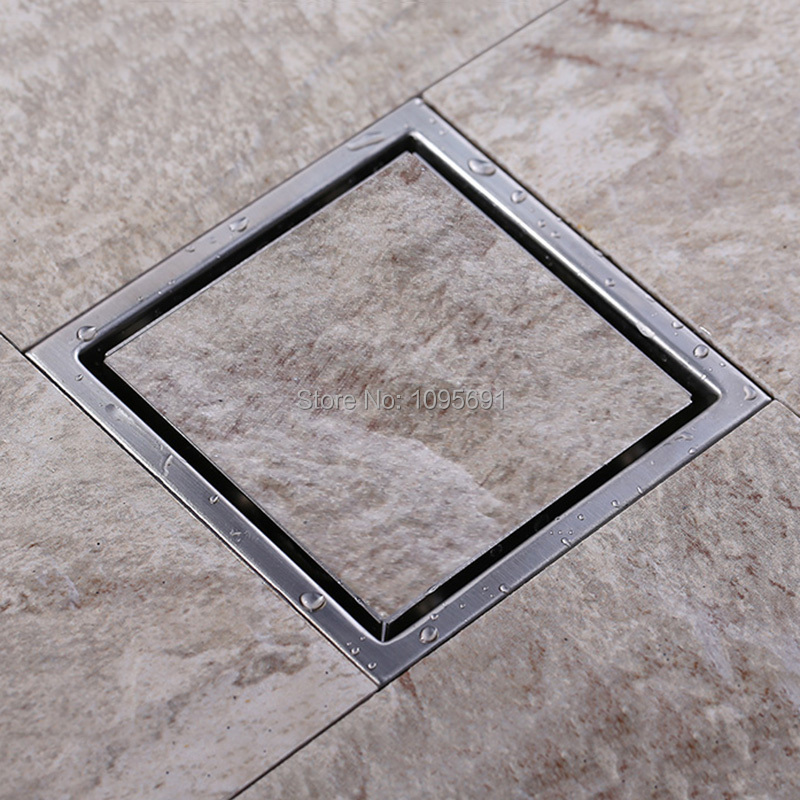 Bathroom Tile Floor Drain : Tile insert square floor waste grates bathroom shower