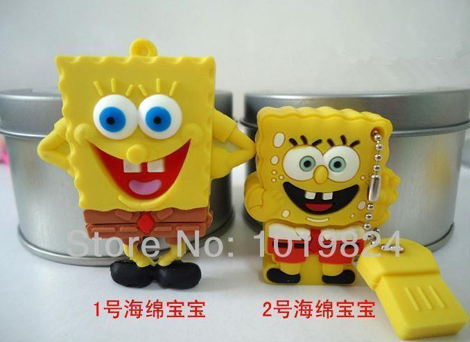 16GB flash drive Yellow Square Pants shape 16GB flash drive/memory card /pen/car S57(China (Mainland))
