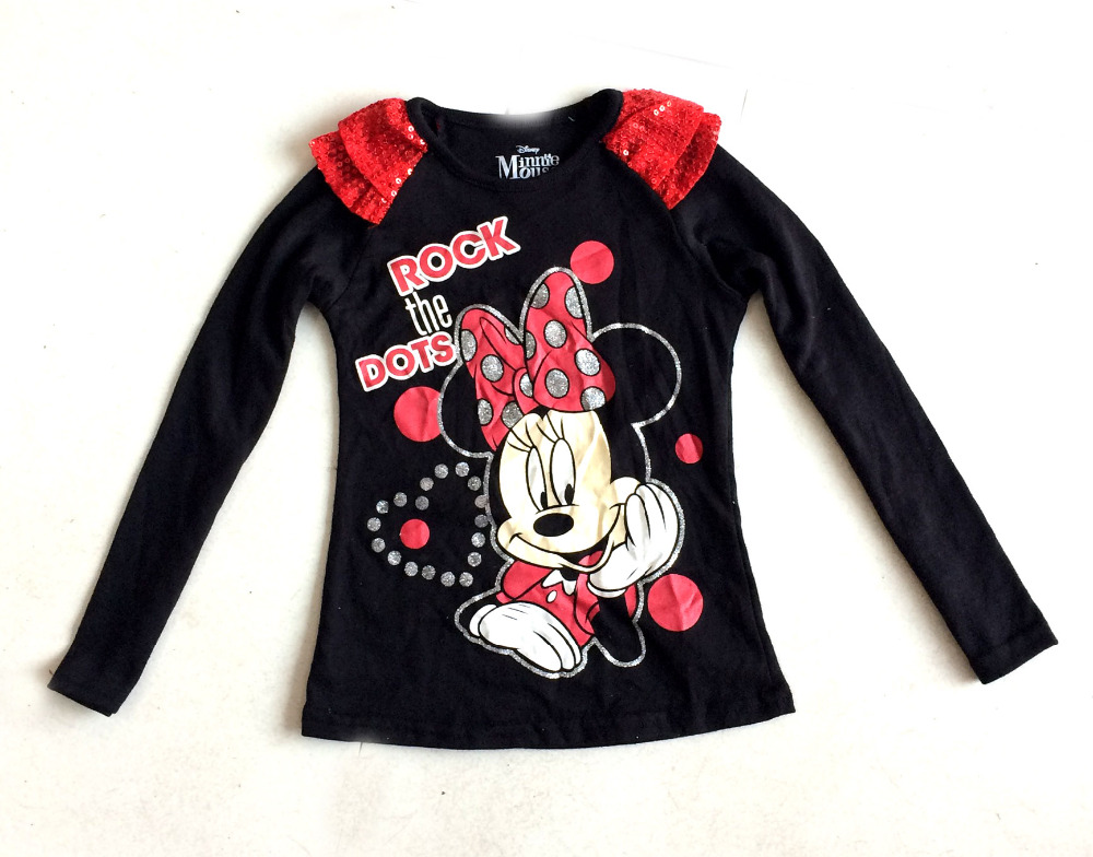 Original Brand,6 Pieces/lot Minnie T-shirt for 2-7yrs Girls, Long Sleeved Shirt for Spring &amp; Autumn,Minnie Mouse Shirt for Girls<br><br>Aliexpress