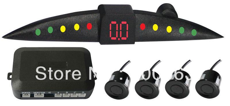 Car LED parking sensor,parking assistance,LED Parking Reverse Backup Radar 4 Sensors,3 colors,DT301 - Crown Technology Co.,LTD store