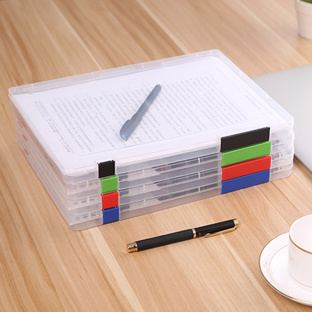 A4 File Storage Box Clear Plastic Document Cases Desk Paper Organizers(China (Mainland))