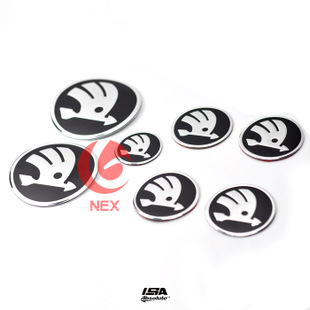 2008 2009 2010 2011 2012 skoda Octavia Fabia Back before the header standard wheel steering wheel black logo 7PCS