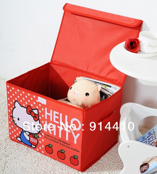 Hello Kitty Toy Bin : Foldable hello kitty large storage box bin case container