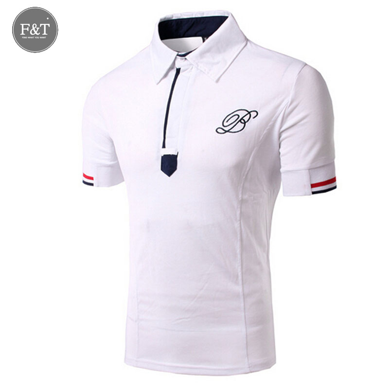 Asian size new fashion mens polo shirt brand embroidery for Polo shirts with embroidery