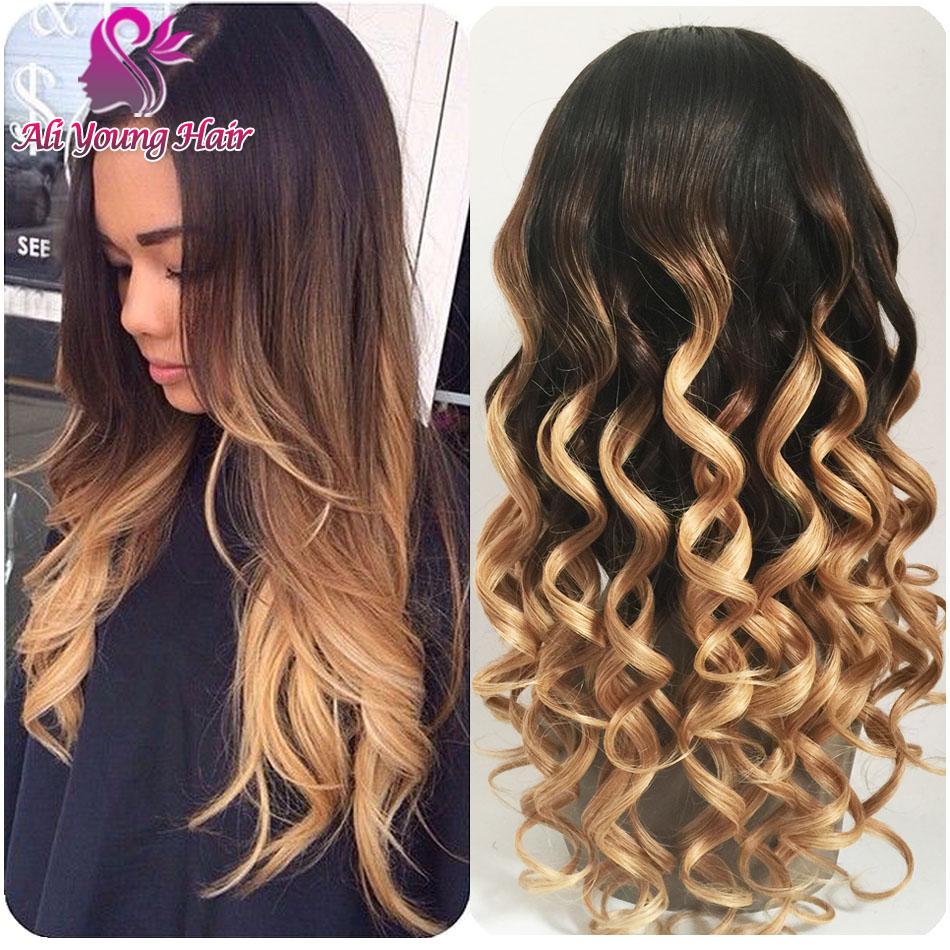 Beauty Three Tone Color #1b/#4/#27 Brazilian U Part Wig Ombre Human Hair U Part Wigs Virgin Hair for Black Women Free Shipping<br><br>Aliexpress
