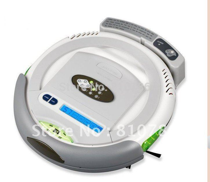 (Free to Russia) Robot Vacuum Cleaner,Multifunction(Vacuum,Sweep,Sterilize,Air Flavor),LCD,Timing Set,Self Charge,Remote Control(China (Mainland))