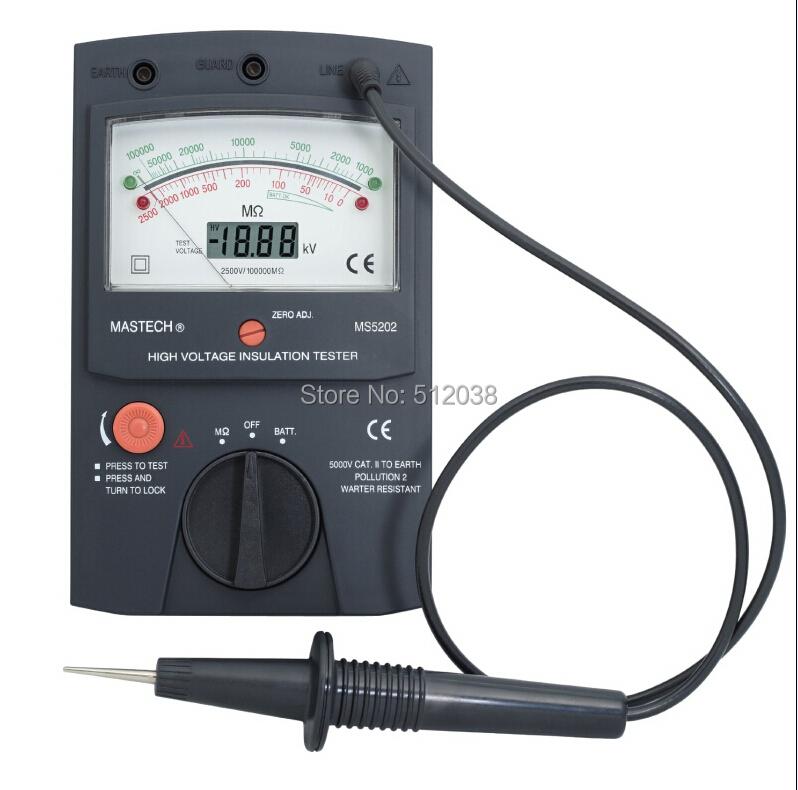 High Voltage Insulation Slicer : Mastech ms digital analogue high voltage insulation