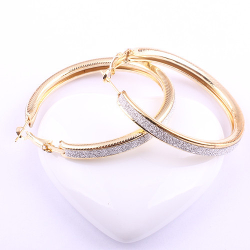 High Quality and Low Price Cuff Frosted Hoop Earrings Free Shipping Fashion Jewelry For Women Hot Selling Accessories 2014 PT31(China (Mainland))