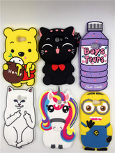 Buy 3D Cartoon Rainbow Unicorn Cat Minion Stitch Soft silicone Cover Case Samsung Galaxy 2017 A3 A320 A5 A520 A7 A720 J3 J5 J7 for $2.99 in AliExpress store