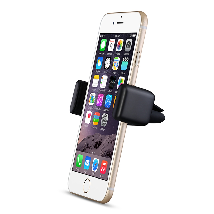 Mpow MCM14 E-Clip Air Vent One Step Mounting Car Mount Holder with 360 Degree Rotation for iPhone 6/6S and 3.9Inches Wide Device(China (Mainland))