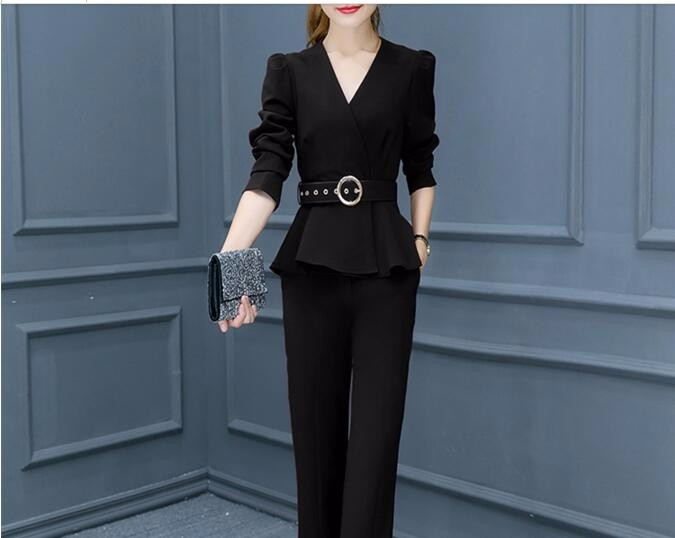 2016 High quality new women's fashion professional suit  Plus size long-sleeved  long section two-pieces sets women clothing
