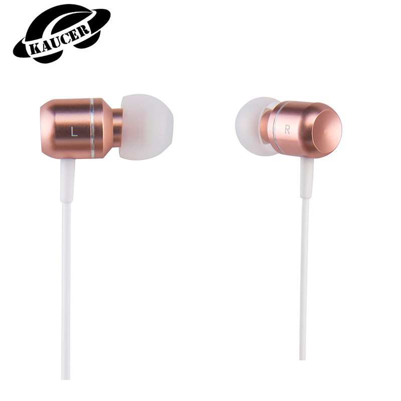 [KAUCER]n-ear Earphones New Rose Gold U3 3.5mm Sport Earphones HIFI Metal Earphoness Sport with microphone for Iphone Earphones(China (Mainland))